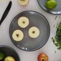 丹麥Nordal 仿石陶瓷餐盤 (黑、直徑22公分)