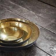 丹麥 Nordal 黃銅色華麗托盤4入組