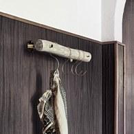 丹麥 Nordal 木製衣帽架附黃銅掛勾 (長60公分)