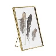 丹麥Nordal 金屬框羽毛玻璃擺飾 (金)