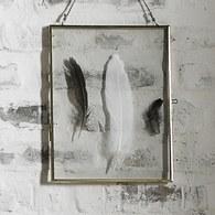 丹麥 Nordal 金屬框羽毛玻璃掛飾