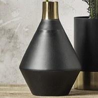 丹麥Nordal 質感黑金鋁製花瓶