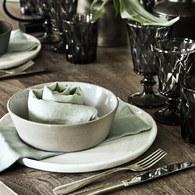 丹麥Nordal 仿石陶瓷餐碗 (米、直徑16公分)