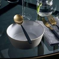 丹麥Nordal 仿石陶瓷餐碗 (米、直徑18公分)