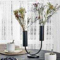 丹麥Nordal 黑色金屬U型花器