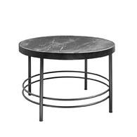 丹麥Nordal 華麗大理石咖啡桌 (黑)