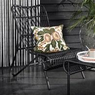 丹麥Nordal 粉色花園刺繡靠枕