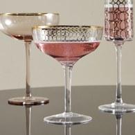 丹麥Nordal 派對金圈飾面雞尾酒杯