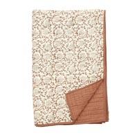 丹麥Nordal 手工緹花絎縫薄被(紅磚織花)