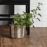 丹麥Nordal 直條紋編織籃