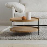 丹麥Sketch 北歐簡約 立體邊緣雙層邊桌 (橡木、90cm)