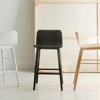 丹麥Sketch 簡約L型高腳吧台椅 (黑)