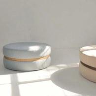 丹麥Sketch 淺白灰布面圓凳(直徑63公分)