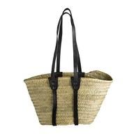 丹麥tineKhome 棕櫚葉編織包 (黑)