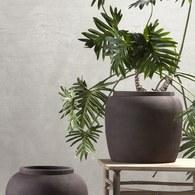 丹麥tineKhome 泥炭色復古花器 (直徑48公分)