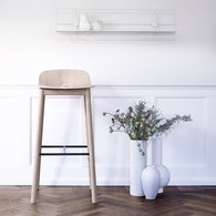丹麥WOUD MONO高腳吧台椅 (原木)