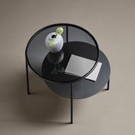 丹麥WOUD Duo透鏡幾何拚接邊桌