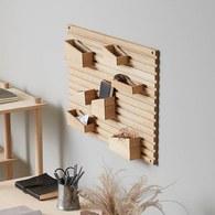 丹麥WOUD INPUT多格木製口袋壁掛置物架