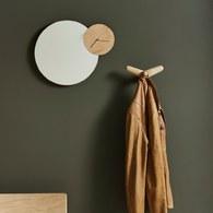 丹麥WOUD 簡約木作時鐘掛鏡