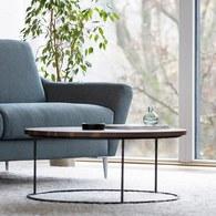 波蘭Sits 胡桃木圓形咖啡桌 (直徑80公分)