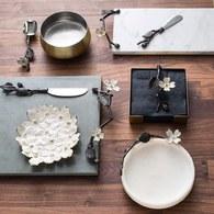 美國MichaelAram工藝飾品 山茱萸系列圓形托盤 (直徑38公分)