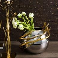 美國MichaelAram 黑色鳶尾花球形花器 (高21公分)