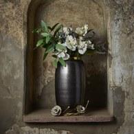 美國MichaelAram 瀲灩銀蓮花造型花器 (高36.8公分)