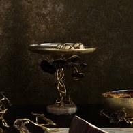 美國Michael Aram 莫內花園金色落日甜點架