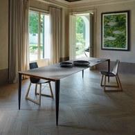 義大利HORM BOLERO極致奈米科技極簡錐形腳餐桌 (黑、長216~316公分)