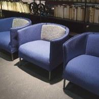 義大利LivingDivani Sartor.C單人沙發椅組 (靛藍)