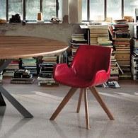 義大利OliverB 經典皮革扶手椅 (紅)