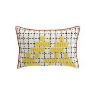 西班牙GanRugs 童趣色塊編織抱枕 (太陽黃)