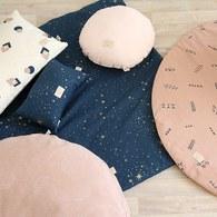 西班牙Nobodinoz有機棉方形兒童遊戲地墊 (星空藍煙火)