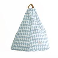 西班牙Nobodinoz 金字塔小懶骨頭沙發 (幾何方塊藍)