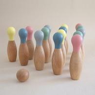 西班牙Nobodinoz 木製保齡球玩具組 (六瓶與兩顆球)