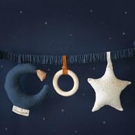 西班牙Nobodinoz 床邊安撫音樂鈴/嬰兒推車音樂鈴(星星與月亮)
