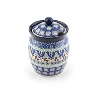 荷蘭BunzlauCastle 藍白地中海圖紋蜂蜜罐