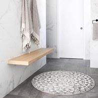 荷蘭 Hk Living 復刻歐風花磚圓形浴室防滑地墊(80cm)
