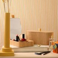 荷蘭HkLiving 日式木製多格收納化妝鏡儲物盒