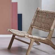 荷蘭HkLiving 田園鄉村編織休閒躺椅