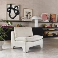 荷蘭HkLiving 棉絨卷布面料慵懶單人沙發