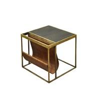 荷蘭PURE 方形邊桌附皮革雜誌架
