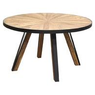 荷蘭PURE 工業風橡木圓桌 (直徑140公分)