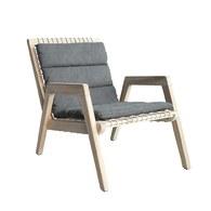 荷蘭Woven+戶外家具 繩編附墊扶手躺椅