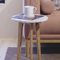 荷蘭Zuiver圓形白色大理石邊桌(直徑32公分)