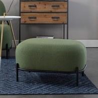 荷蘭Zuiver 泡芙軟墊休閒腳凳(綠)