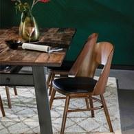 荷蘭Zuiver 木作簍空弧形單椅