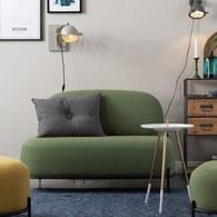 荷蘭Zuiver 泡芙軟墊休閒雙人沙發(綠)