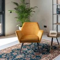 荷蘭Zuiver 輕奢感絨布蝶型扶手椅(金黃)