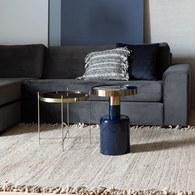 荷蘭Zuiver 鑲金圈膠囊顆粒造型邊桌(藍)